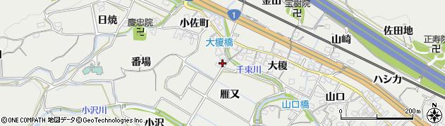 愛知県豊川市長沢町(雁又)周辺の地図