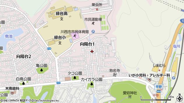 〒666-0115 兵庫県川西市向陽台の地図