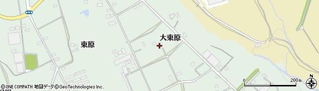 愛知県豊川市上長山町(大東原)周辺の地図