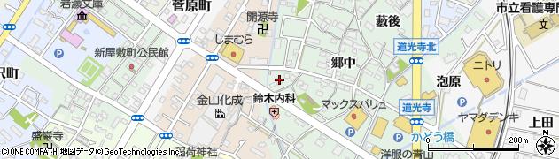 愛知県西尾市道光寺町(寺内下)周辺の地図