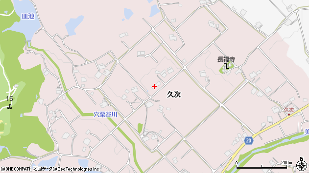 〒673-0758 兵庫県三木市口吉川町久次の地図