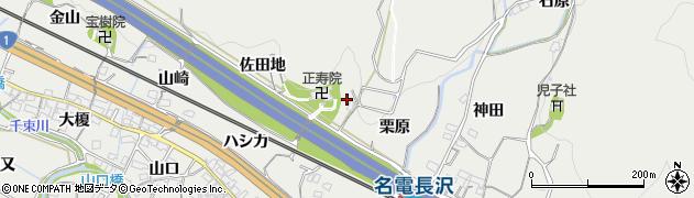 愛知県豊川市長沢町(佐田地)周辺の地図