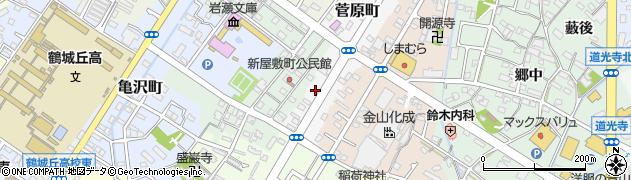 愛知県西尾市菅原町周辺の地図