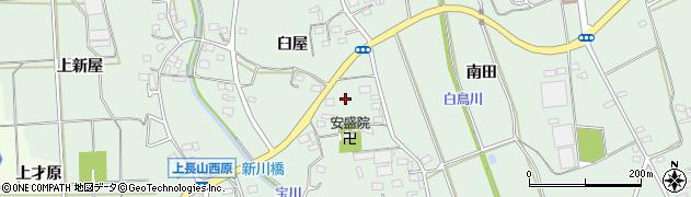 愛知県豊川市上長山町周辺の地図