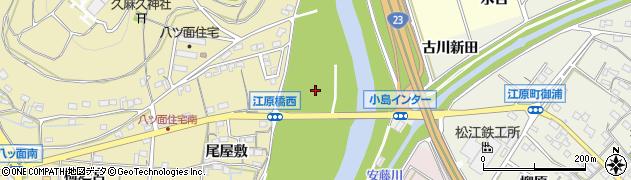 愛知県西尾市八ツ面町(下川畑)周辺の地図