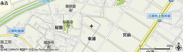 愛知県西尾市江原町(東浦)周辺の地図