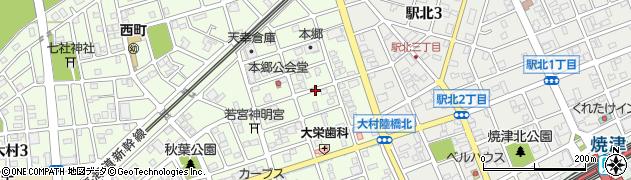 静岡県焼津市大栄町周辺の地図