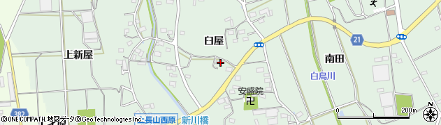 愛知県豊川市上長山町(臼屋)周辺の地図