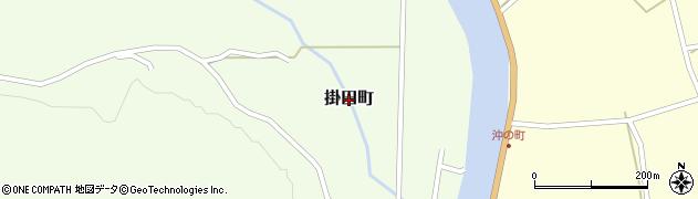 広島県庄原市掛田町周辺の地図