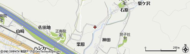愛知県豊川市長沢町(下谷下)周辺の地図