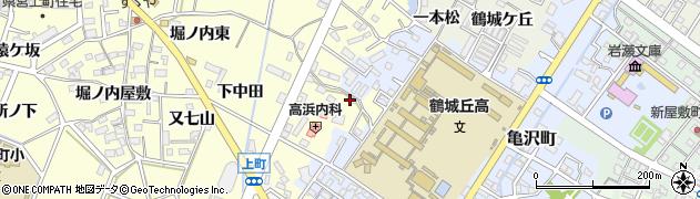 愛知県西尾市上町(菖蒲池)周辺の地図