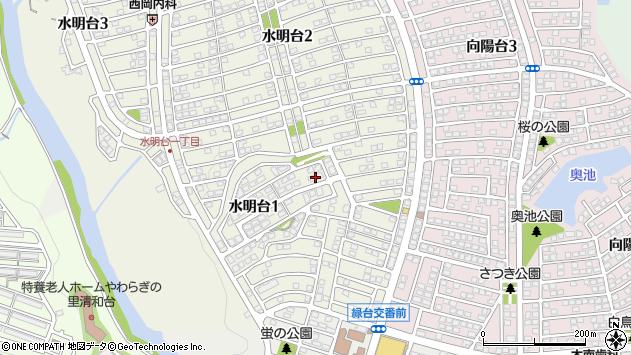〒666-0116 兵庫県川西市水明台の地図