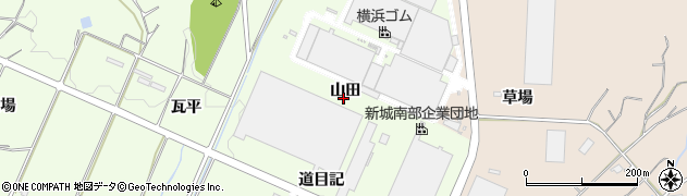 愛知県新城市一鍬田(山田)周辺の地図
