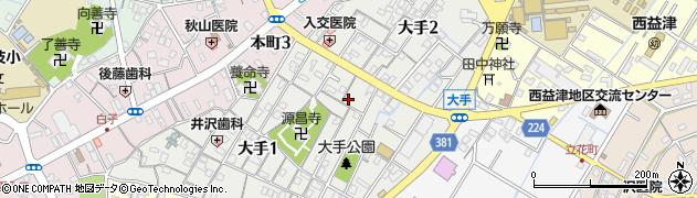 静岡県藤枝市大手周辺の地図