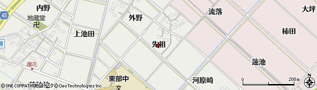 愛知県西尾市下永良町(先祖)周辺の地図
