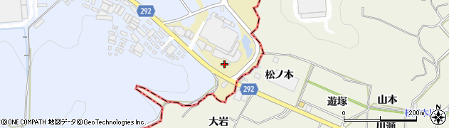 愛知県西尾市上羽角町(風越)周辺の地図