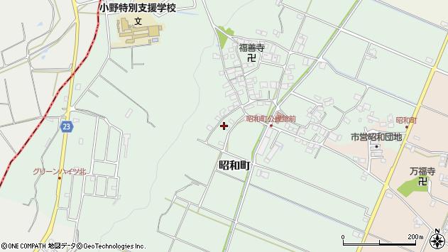 〒675-1359 兵庫県小野市昭和町の地図