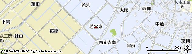 愛知県西尾市小間町(若宮東)周辺の地図