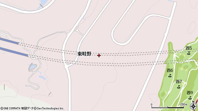 〒666-0117 兵庫県川西市東畦野の地図