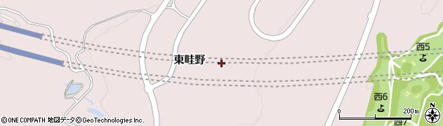 兵庫県川西市東畦野周辺の地図