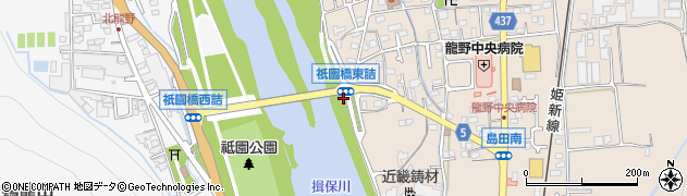 祇園橋東詰周辺の地図