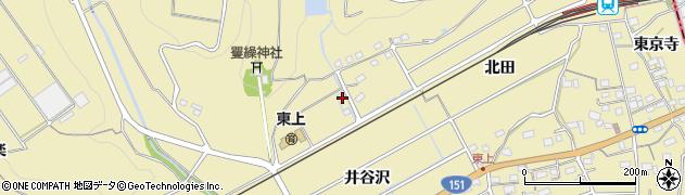 愛知県豊川市東上町(井谷沢)周辺の地図