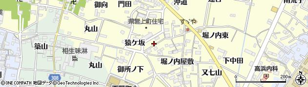 愛知県西尾市上町(花蔵山)周辺の地図