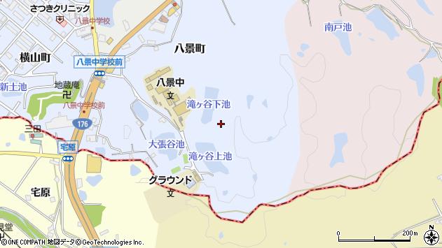 〒669-1524 兵庫県三田市八景町の地図