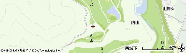 愛知県豊川市足山田町(向山)周辺の地図