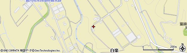 愛知県豊川市東上町(白楽)周辺の地図