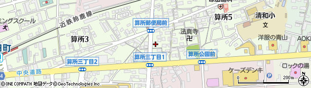 三重県鈴鹿市算所5丁目2-1周辺の地図