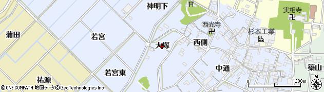 愛知県西尾市小間町(大塚)周辺の地図