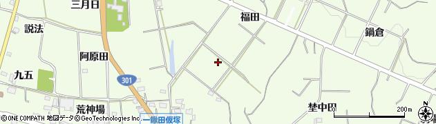 愛知県新城市一鍬田周辺の地図