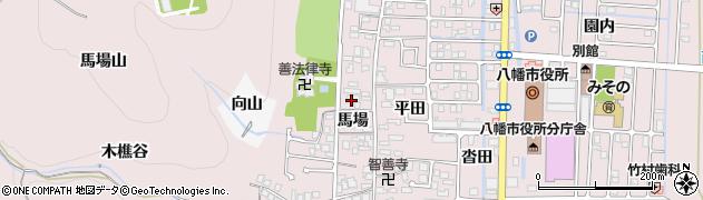 八幡温泉周辺の地図