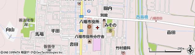 京都府八幡市周辺の地図