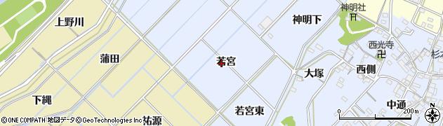 愛知県西尾市小間町(若宮)周辺の地図