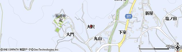 愛知県豊川市萩町(大沢)周辺の地図