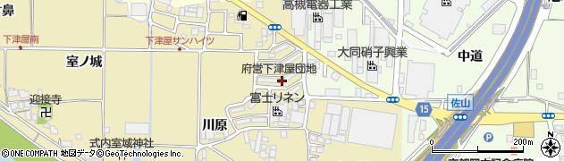 府営下津屋団地周辺の地図