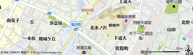 愛知県西尾市鶴城町周辺の地図