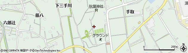 愛知県豊川市上長山町(下三手川)周辺の地図