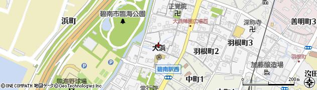 愛知県碧南市本郷町周辺の地図