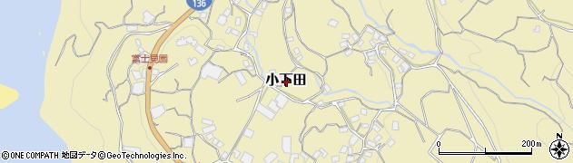 静岡県伊豆市小下田周辺の地図