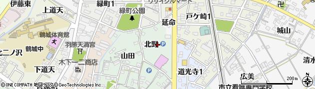 愛知県西尾市道光寺町(北野)周辺の地図