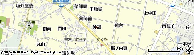 愛知県西尾市上町(沖道)周辺の地図