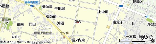 愛知県西尾市上町(蓮台)周辺の地図