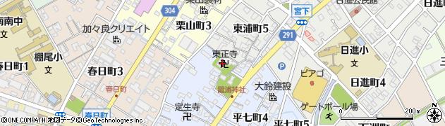 東正寺周辺の地図