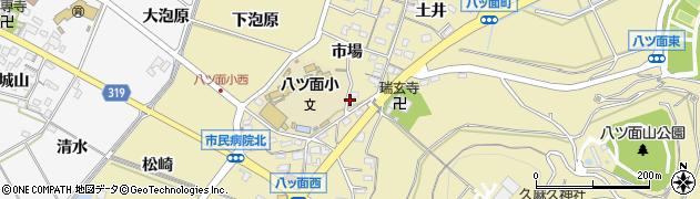 愛知県西尾市八ツ面町(市場)周辺の地図