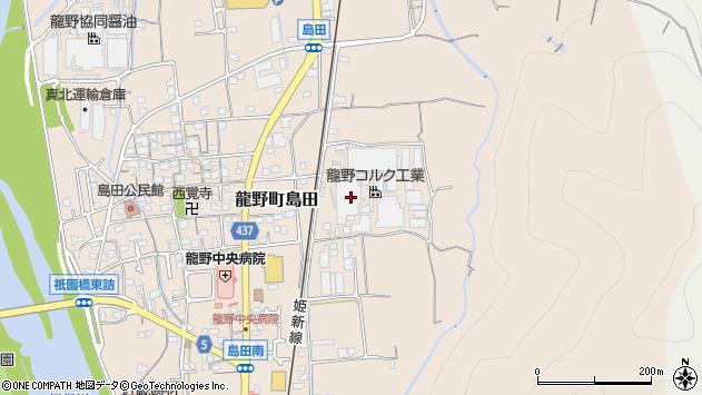 〒679-4121 兵庫県たつの市龍野町島田の地図
