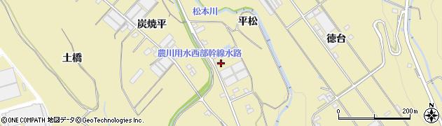 愛知県豊川市東上町(平松)周辺の地図