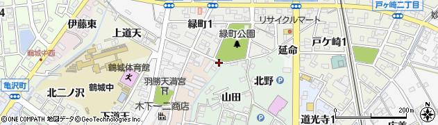愛知県西尾市道光寺町(大山田)周辺の地図